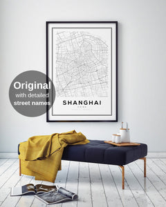 Shanghai City Map Print - Salt&Printer