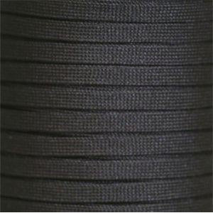 "Spool 7/16"" Flat Tubular Athletic Black 144 Yards"