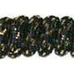 Curly Laces Black Metallic Gold 6""