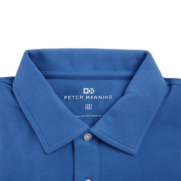 Long Sleeve Polo - Sky Blue