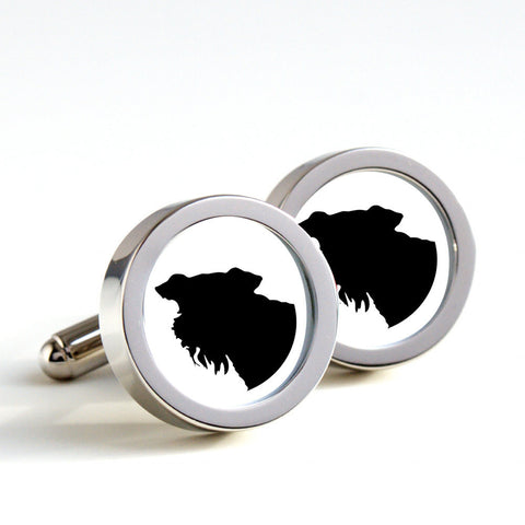 Airedale on cufflinks