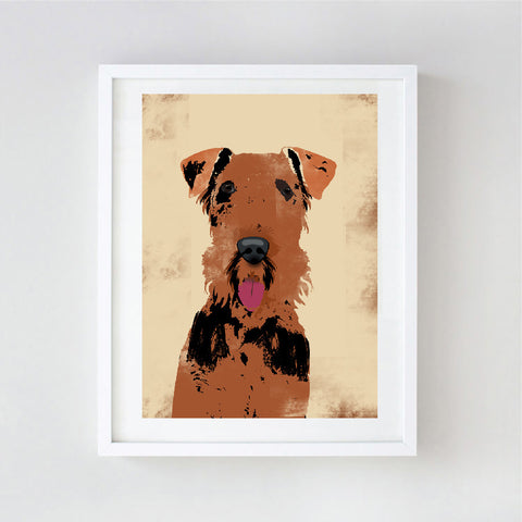 Airedale Terrier Dog Print