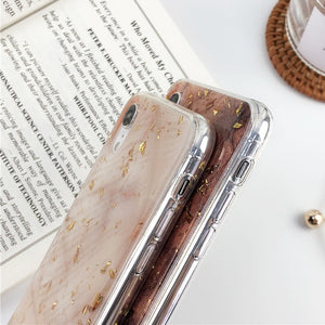 Glittery Marble iPhone Case