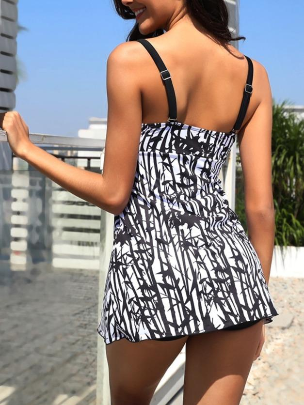 Women's Chic Printed Tankini Sets Swimwear Swimsuit Bathing Suit