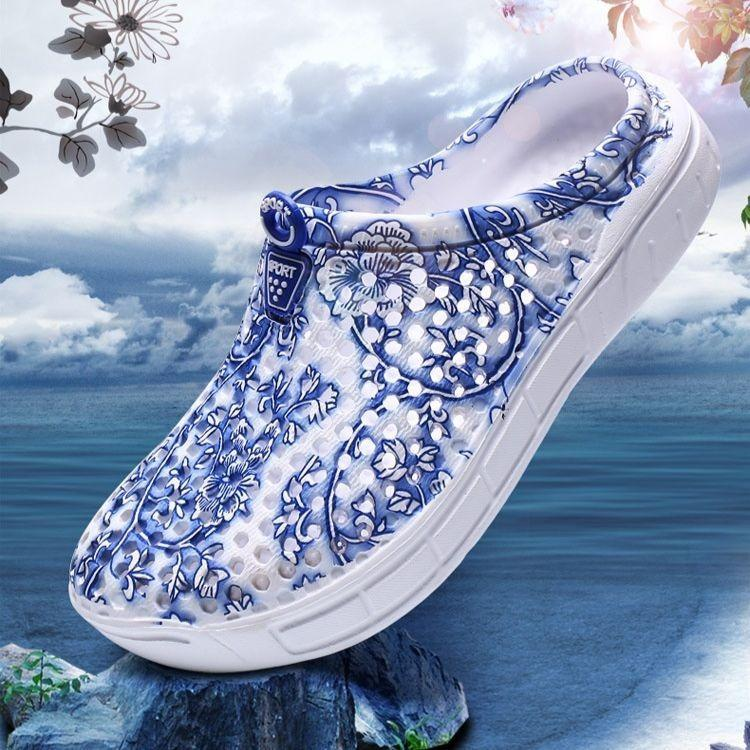 Women Summer Beach Sandals Hollow-out Shoes Casual Breathable slippers Slip-on Flats Shoes