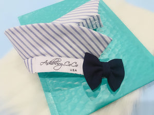 Nautical Dog Shirt Collar Bow Tie