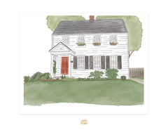 Custom Watercolor House Painting
