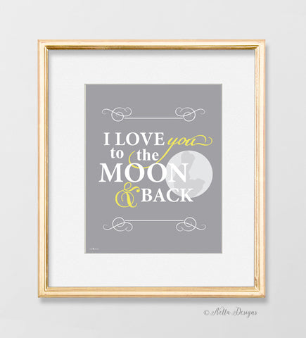 I love you to the moon and back - art print