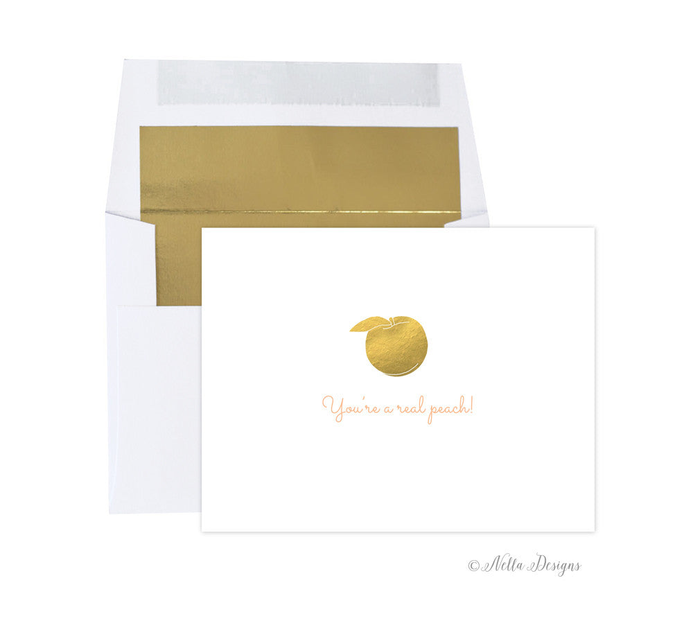 You're a real peach! - Southern sayings note cards