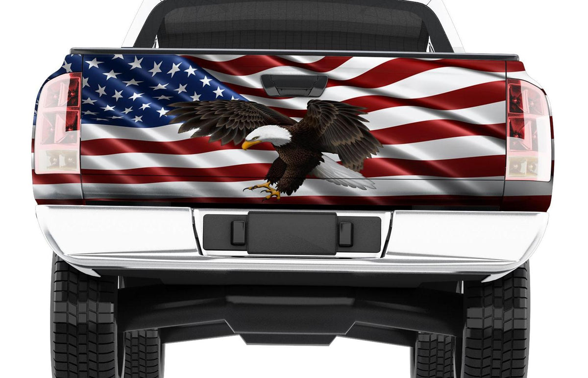 American flag wrap for truck tailgate