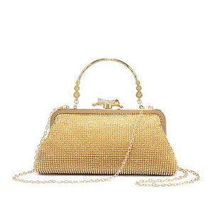 Gold Sequined Evening Clutch