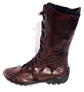 Testa di Moro Brown 3/4 Boots - LABELSHOES
