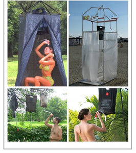 20L Water Bag Foldable Solar Energy Heated Camp PVC Shower Bag Outdoor Camping Travel Hiking Climbing - moonaro