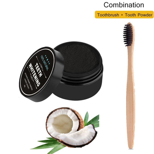 Teeth Whitening Bamboo Charcoal Toothbrush Soft-bristle Wooden Tooth Brush Tooth Powder Oral Hygiene Cleaning