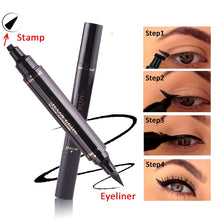 Load image into Gallery viewer, Eyes Liner Liquid Make Up Pencil Waterproof Black Double-ended Makeup Stamps Eyeliner Pencil - moonaro