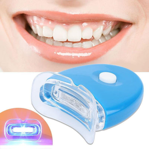 2 Sets of Teeth Whitening Gel and Blue Light Teeth Bleaching Device Dental Care Beauty Tools for Adults Tooth Whitener - moonaro