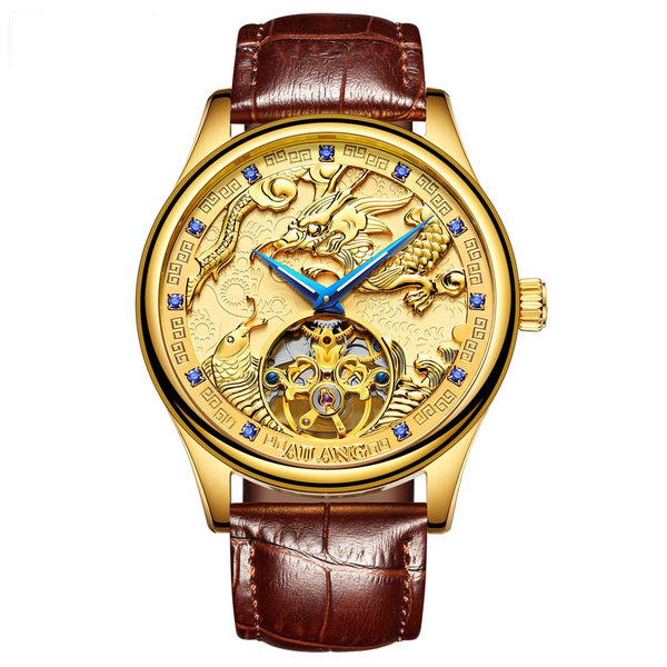AILANG Top men's luxury brand watch gold