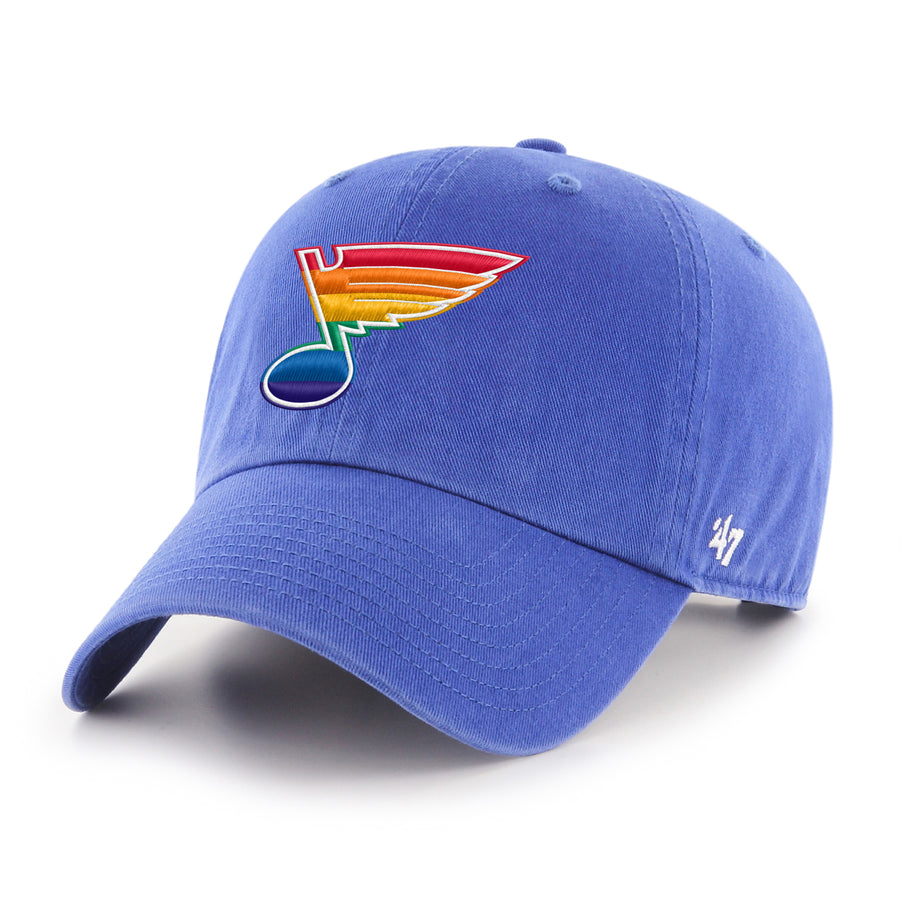 Pride Bluenote St Louis Blues STL PrideFest Blue 47 brand clean up hat