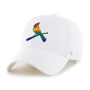 St. Louis Cardinals Pride Hat Rainbow Cardinal White Baseball hat cap