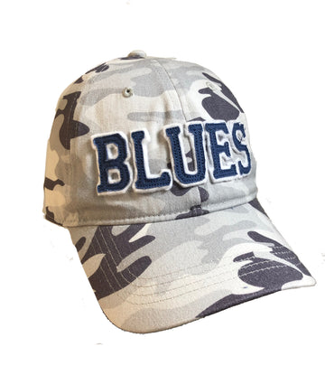 white and gray camo blues hat 2lu st louis