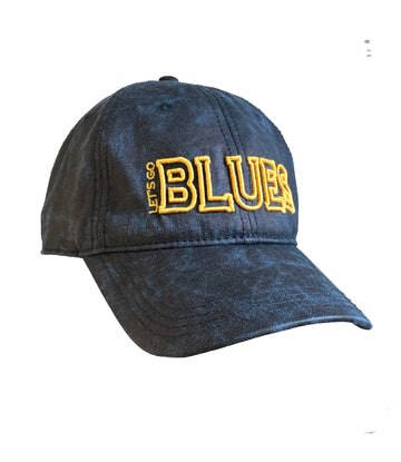 Lets Go Blues Navy hat Gold lettering St. Louis Blues