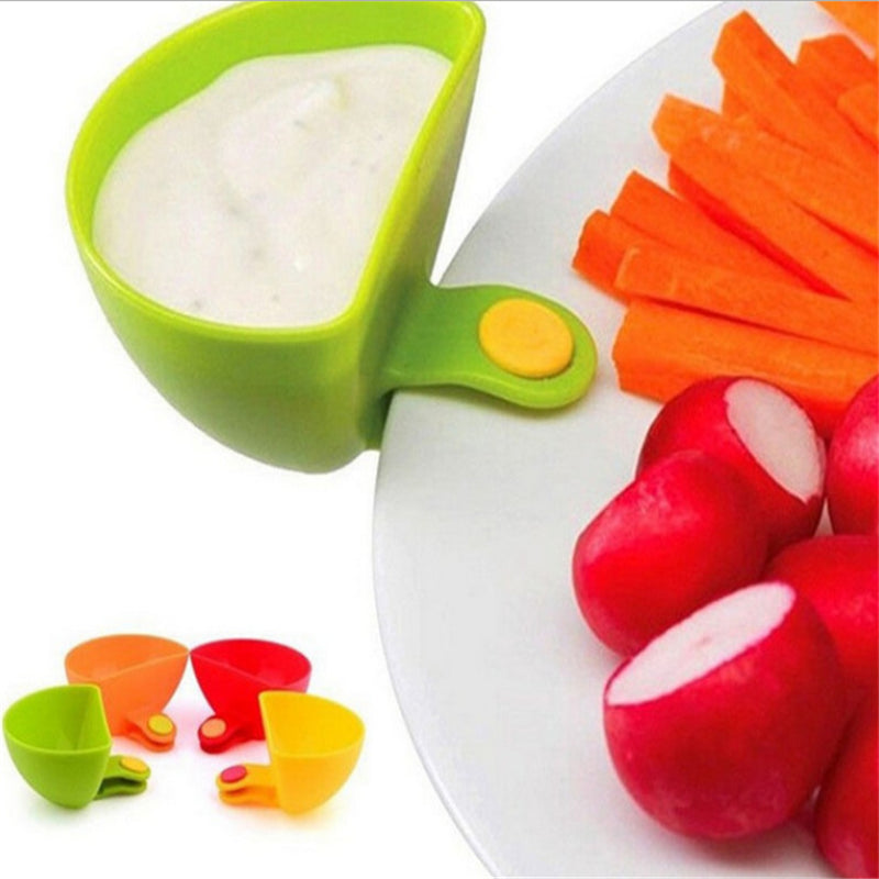 2 pcs Clip on sauce cup for dipping