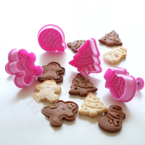 4pcs/set Christmas Cookie Cutter