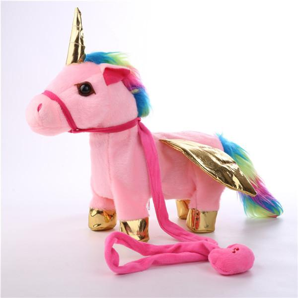 Singing Walking Musical Unicorn Soft Baby&Kids Toys-toys-hundredfeel.com-pink-hundredfeel