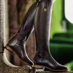 Women Round Toe Low Heel Horse Riding Boots-Boots-hundredfeel.com-BROWN-34-hundredfeel
