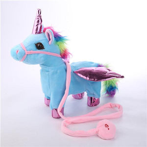 Singing Walking Musical Unicorn Soft Baby&Kids Toys-toys-hundredfeel.com-blue-hundredfeel