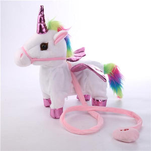 Singing Walking Musical Unicorn Soft Baby&Kids Toys-toys-hundredfeel.com-white-hundredfeel