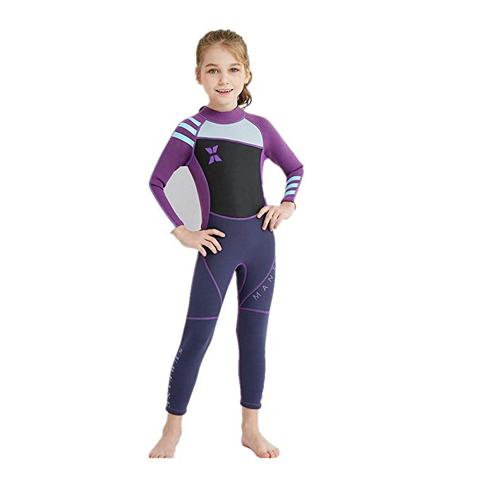 Kids Wetsuit UPF 50 Beachwear Swimming Diving Suit Surfing Suits-Wetsuits-hundredfeel-Purple-S-hundredfeel