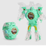 Robot Deformed Watch/Deformed Mobile Phone-toys-hundredfeel.com-LIGHT GREEN(IMAGES PROJECTIONS)-hundredfeel