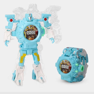Robot Deformed Watch/Deformed Mobile Phone-toys-hundredfeel.com-BLUE(IMAGES PROJECTIONS)-hundredfeel