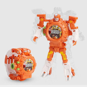 Robot Deformed Watch/Deformed Mobile Phone-toys-hundredfeel.com-ORANGE(IMAGES PROJECTIONS)-hundredfeel