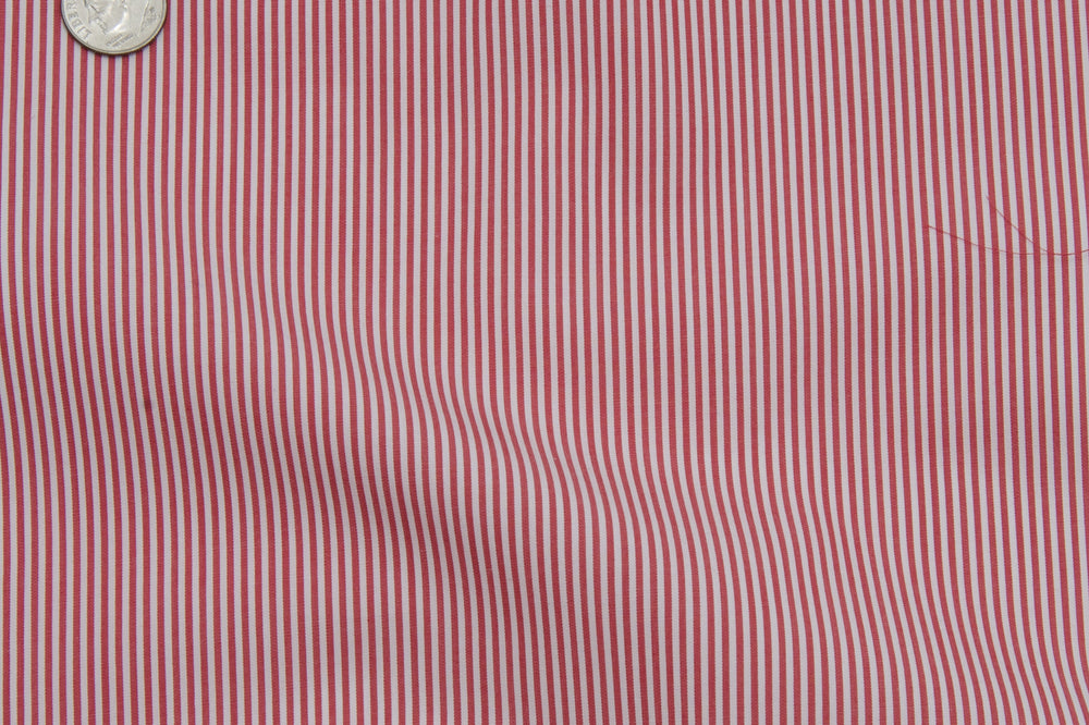 Albini Red Pencil Stripes