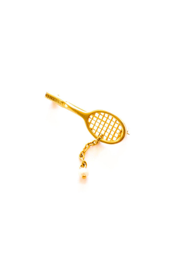 Tennis Racquet Brooch