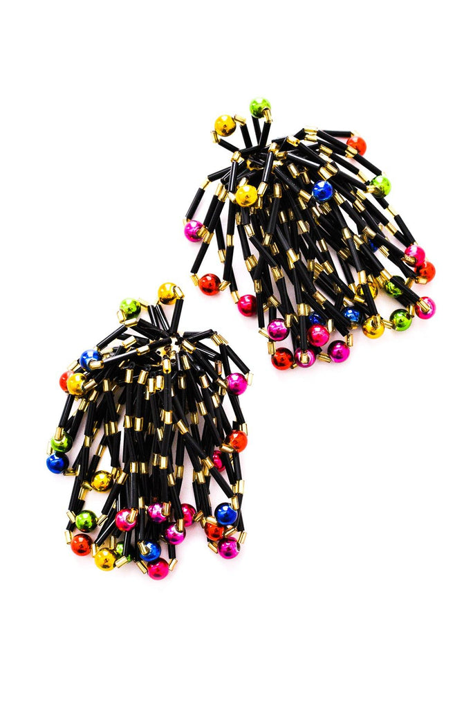 Festive Fringe Clip-on Earrings