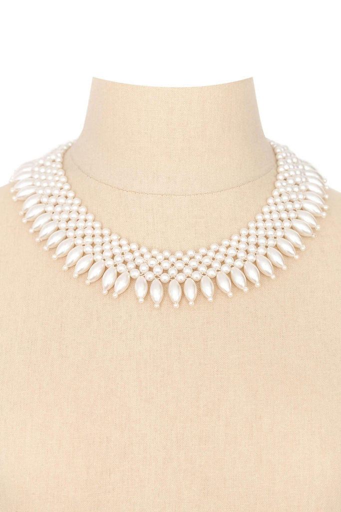 50's__Vintage__Fringe Pearl Necklace