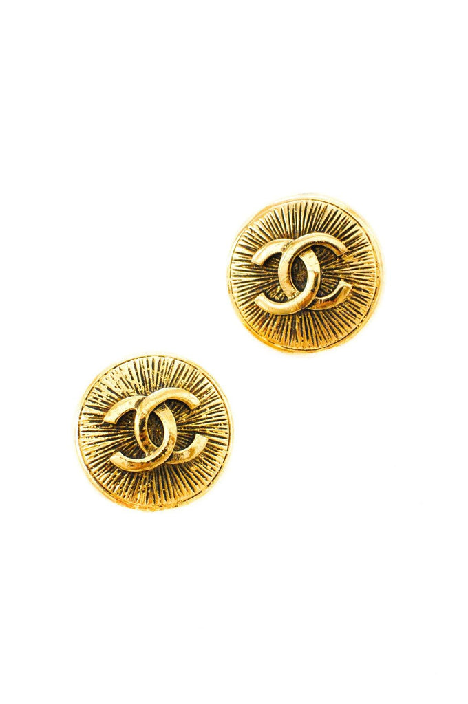 Chanel Round Logo Clip-on Earrings