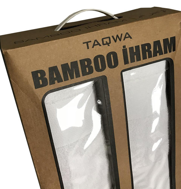 Men's Bamboo Cotton Ihram Set of 2 Towels for Hajj and Umrah