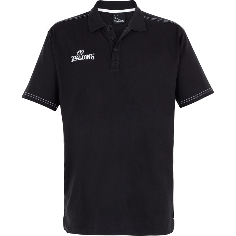 Spalding Polo Shirt Slim Cut Black