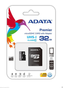 ADATA Premier 32GB Micro SD SDHC SDXC UHS-I Class10 Memory Card Smartphone Tablet