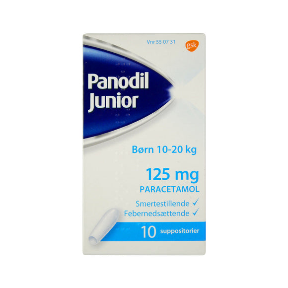 Panodil Junior Suppositorier 125 mg - Scandea O2O