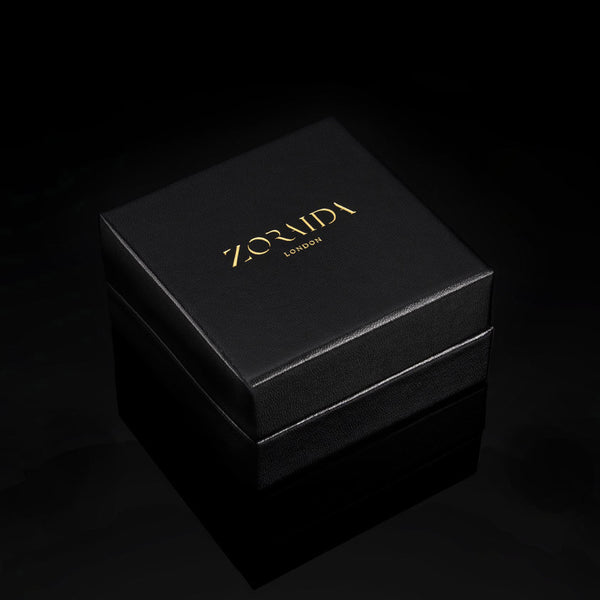 Catherine Zoraida London, black leather jewellery gift box