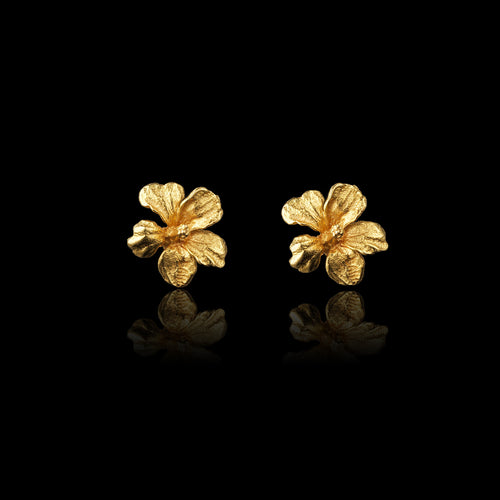 Hibiscus Sweet Nectar Stud Earrings by Catherine Zoraida