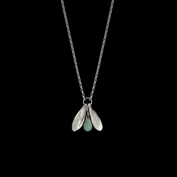Silver Lucky Leaf Drop Pendant by Catherine Zoraida