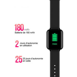 Montre intelligente compatible Android et iOS