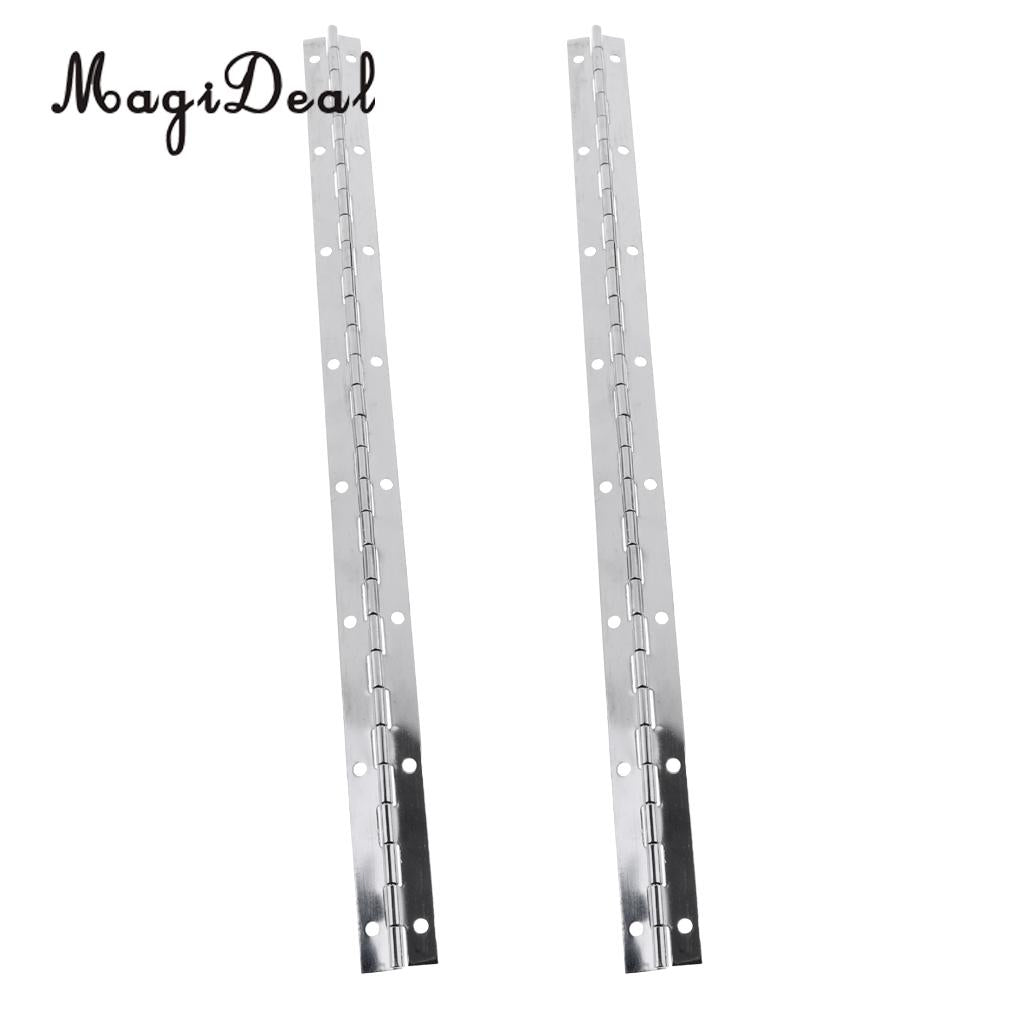 1 Pair 375mm Length 1mm Thickness Marine Boat RV Continuous/Piano Hinge