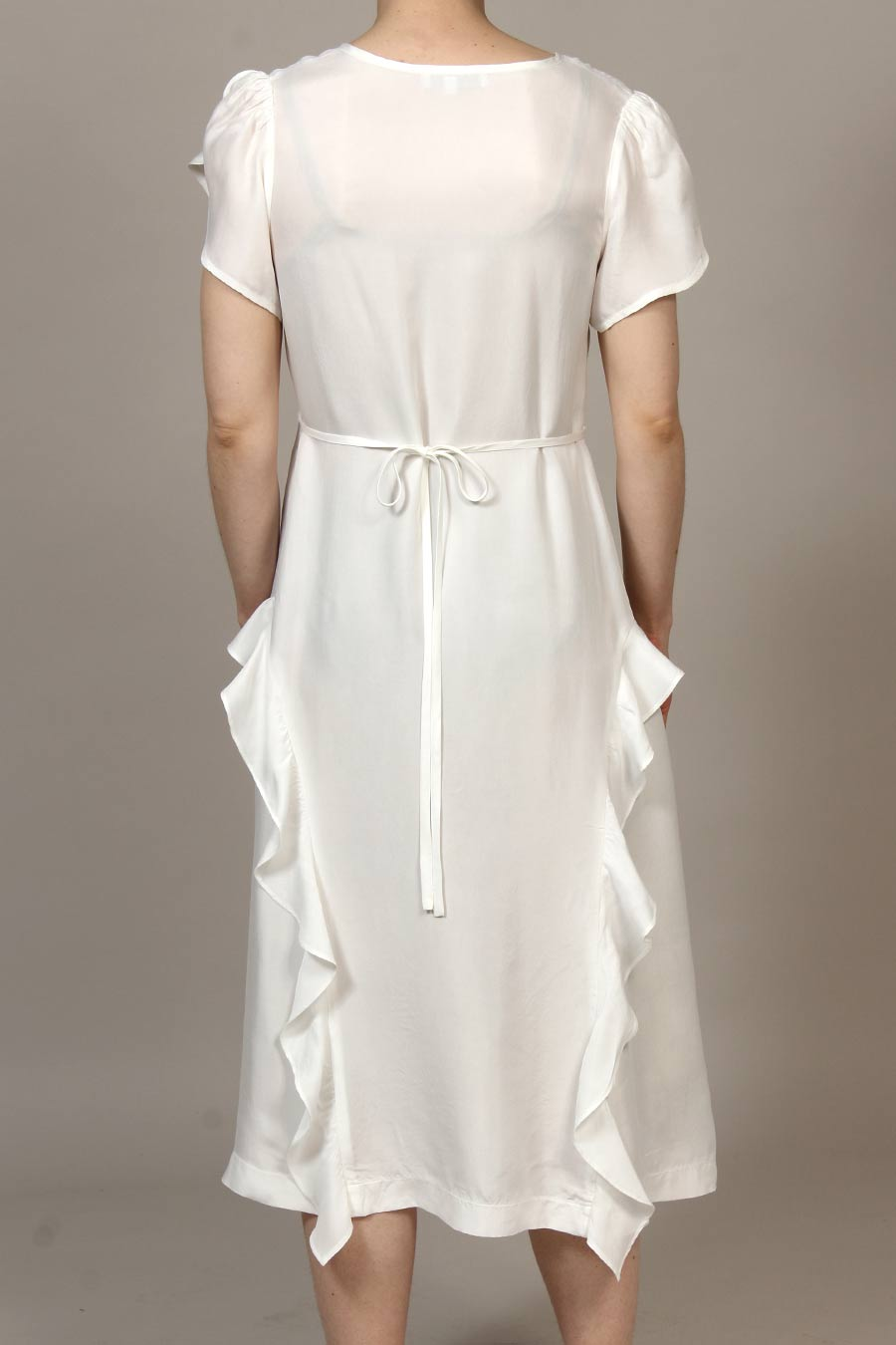 Cupro Parachute Bloomfield Dress - Ivory